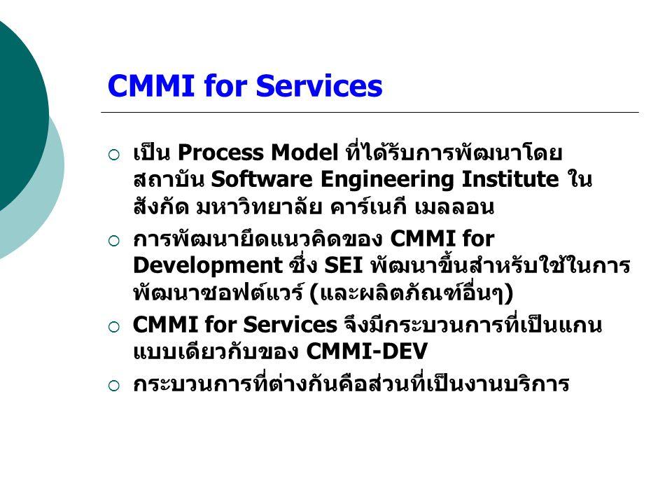 CMMI for Services เป็น Process Model ที่ได้รับการพัฒนาโดยสถาบัน Software Engineering Institute ในสังกัด มหาวิทยาลัย คาร์เนกี เมลลอน.
