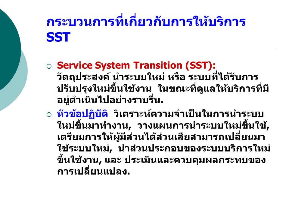 กระบวนการที่เกี่ยวกับการให้บริการ SST