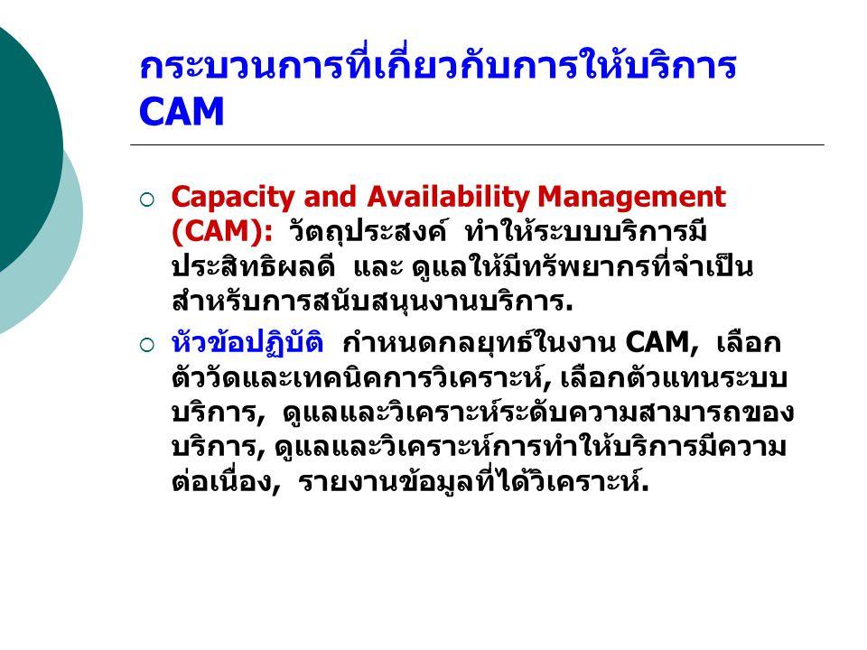 กระบวนการที่เกี่ยวกับการให้บริการ CAM
