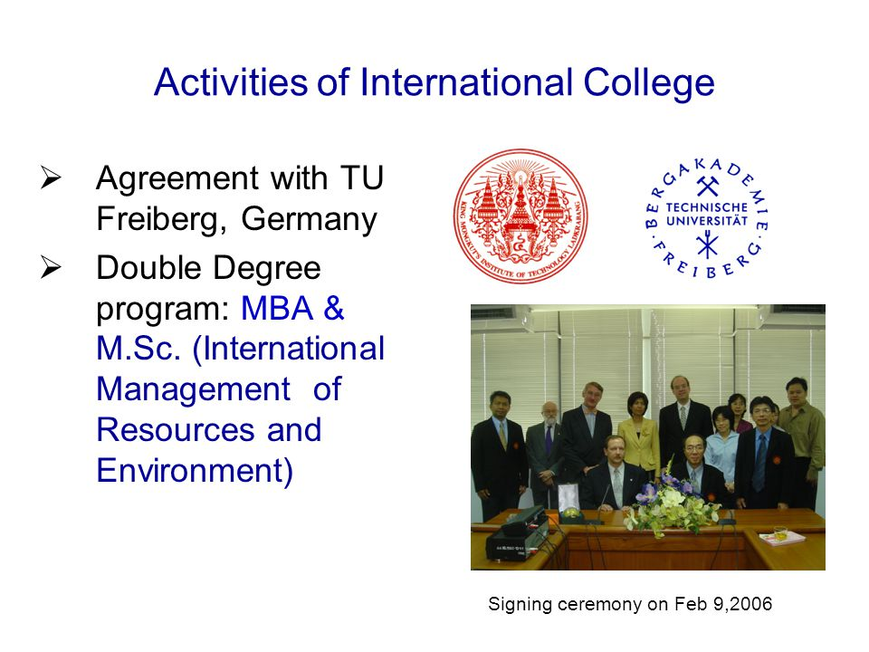 Activities of International College
