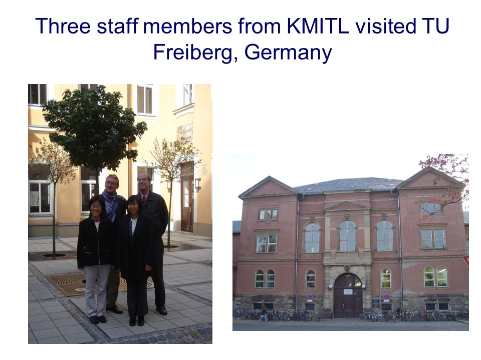 Three staff members from KMITL visited TU Freiberg, Germany