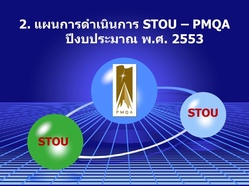 2. แผนการดำเนินการ STOU – PMQA ปีงบประมาณ พ.ศ. 2553