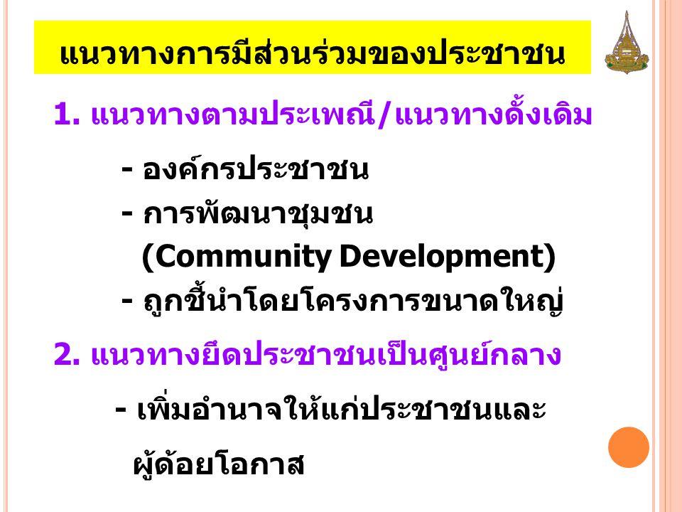 แนวทางการมีส่วนร่วมของประชาชน