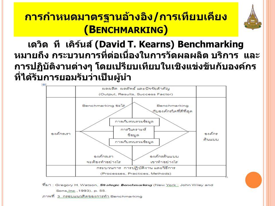 การกำหนดมาตรฐานอ้างอิง/การเทียบเคียง (Benchmarking)
