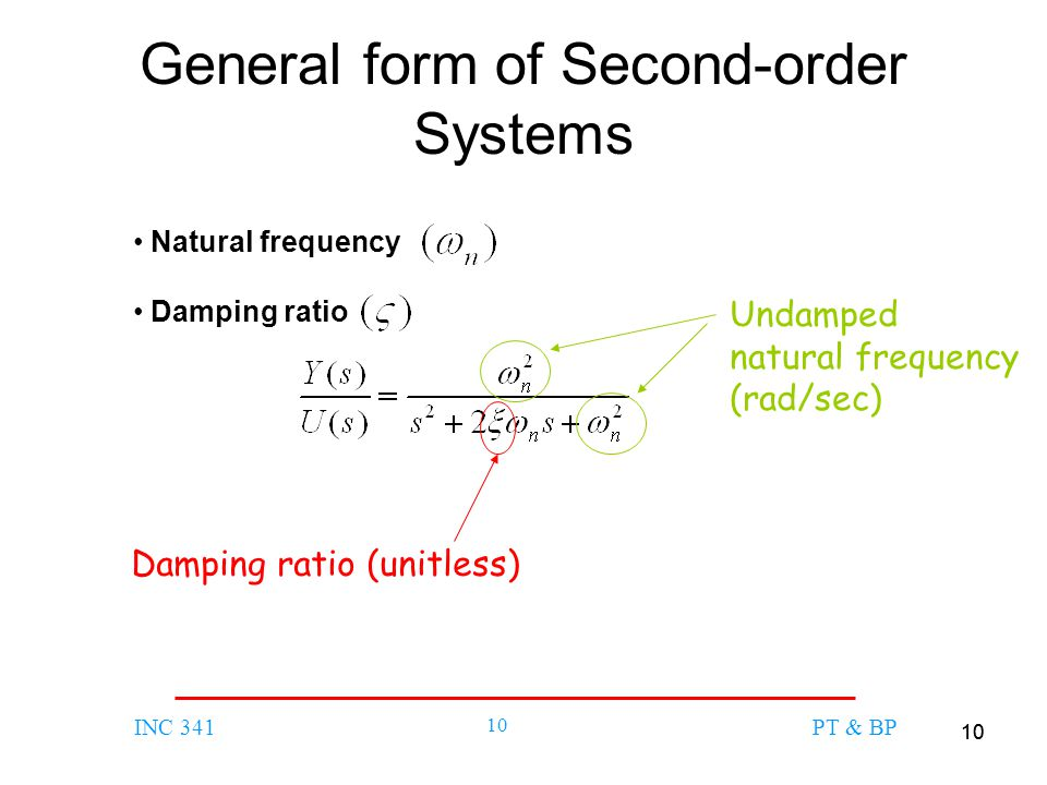 General form of Second-order Systems