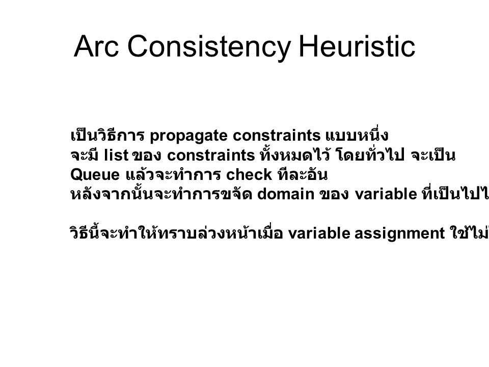 Arc Consistency Heuristic
