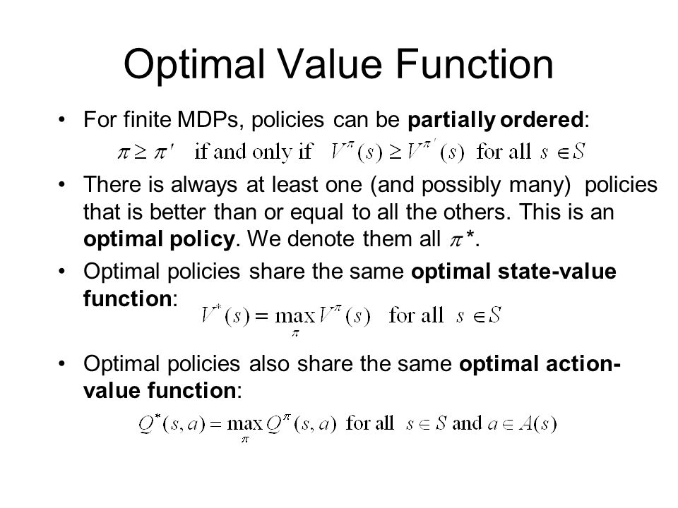 Optimal Value Function