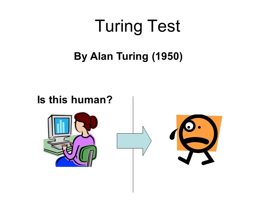 Turing Test By Alan Turing (1950) Is this human