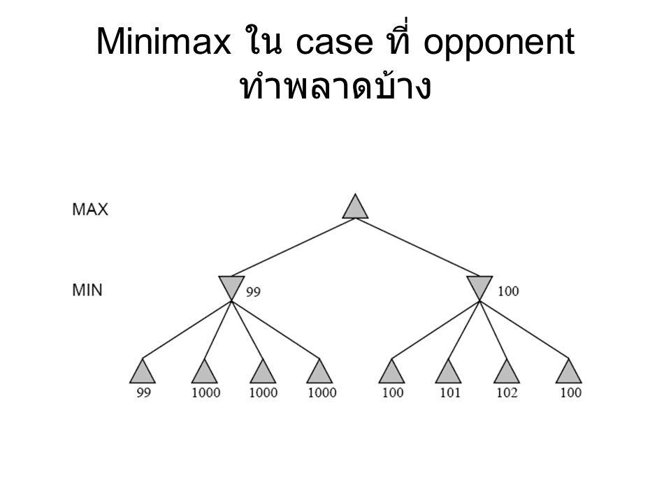 Minimax ใน case ที่ opponent ทำพลาดบ้าง