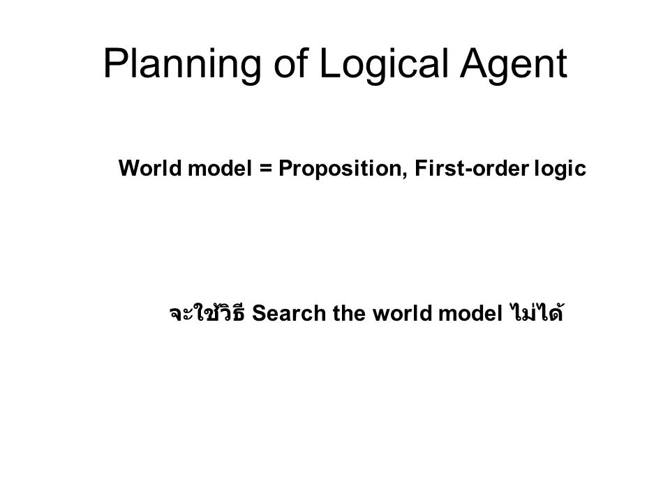 Planning of Logical Agent