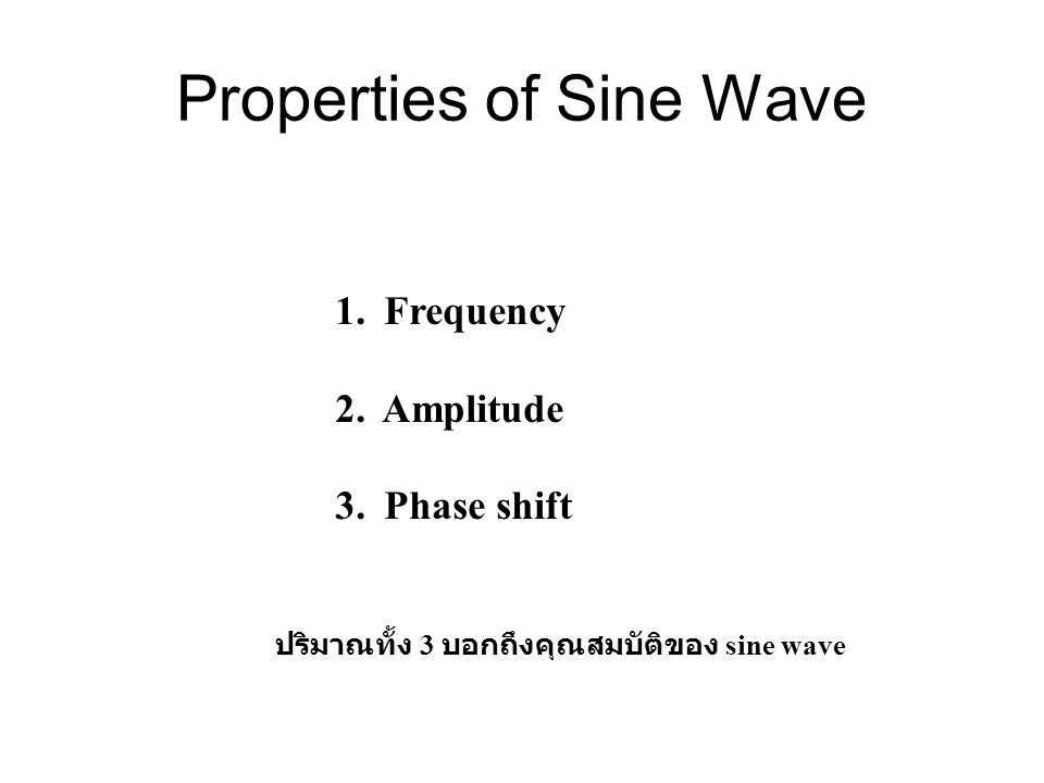 Properties of Sine Wave