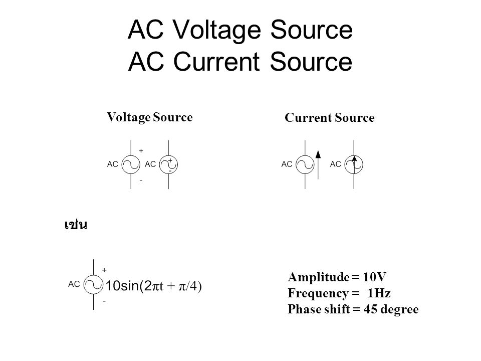 AC Voltage Source AC Current Source