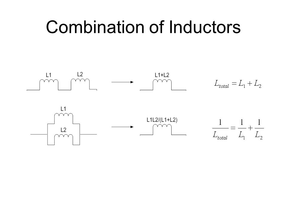 Combination of Inductors