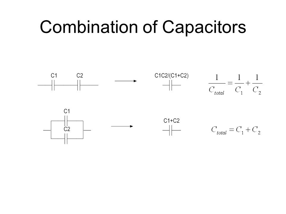 Combination of Capacitors