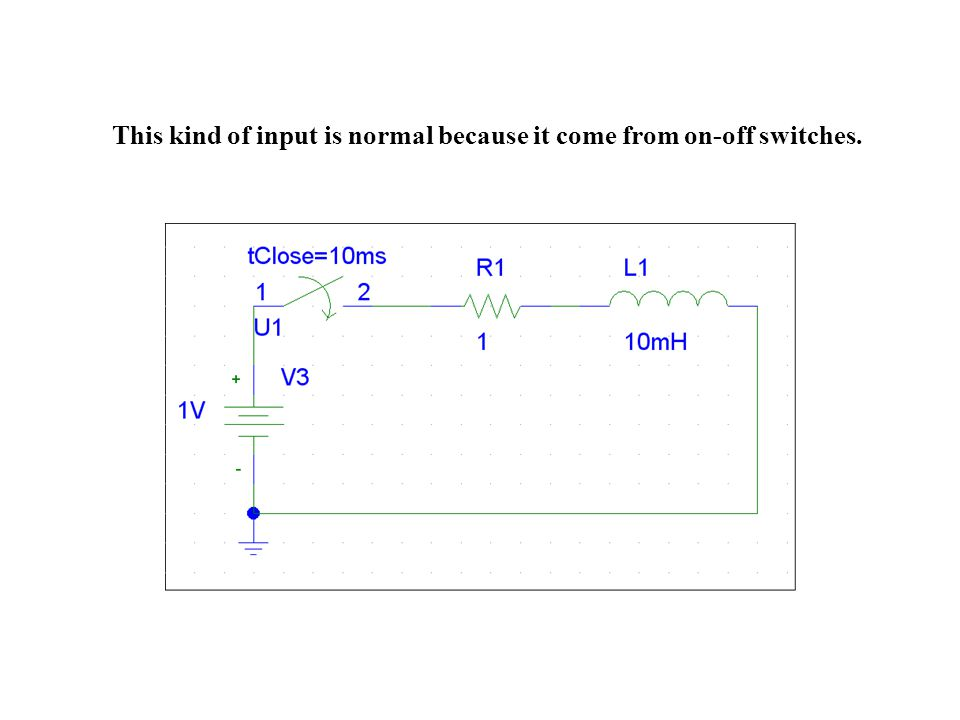 This kind of input is normal because it come from on-off switches.