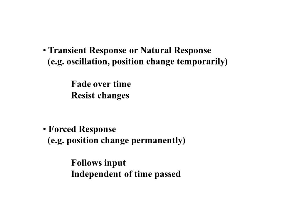 Transient Response or Natural Response