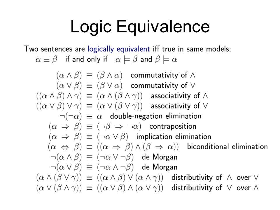 Logic Equivalence