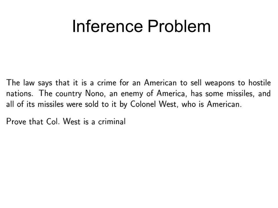 Inference Problem