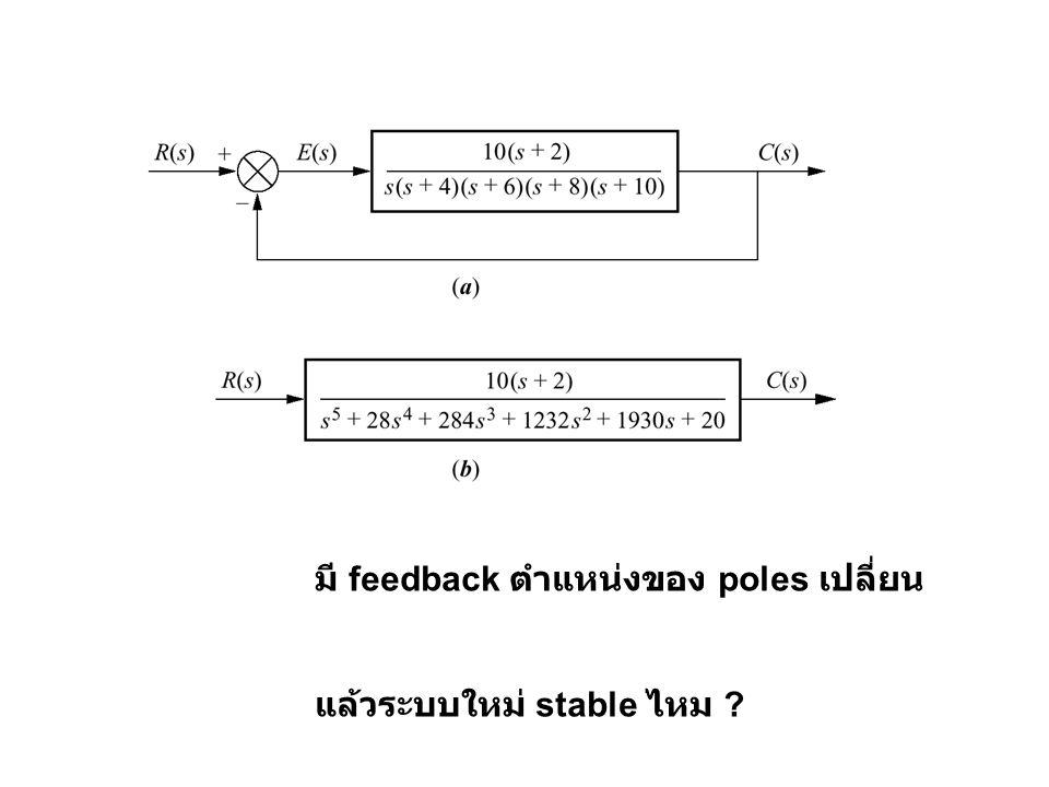 มี feedback ตำแหน่งของ poles เปลี่ยน