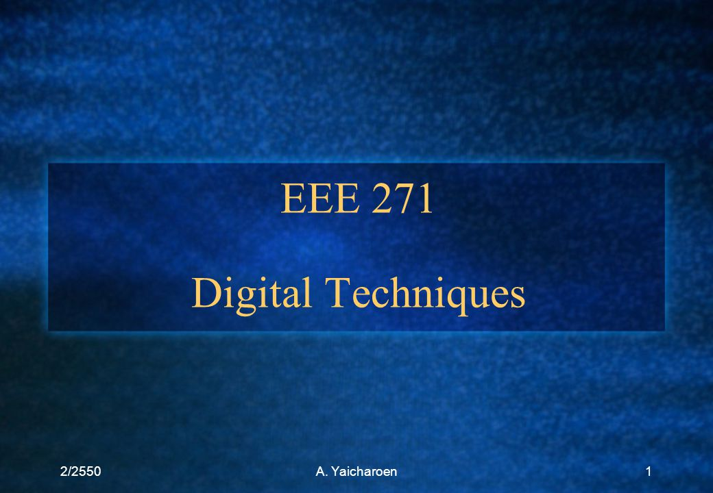 EEE 271 Digital Techniques
