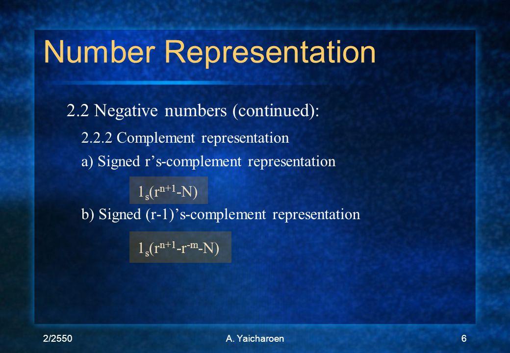Number Representation