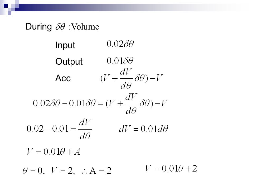 During dq :Volume Input Output Acc