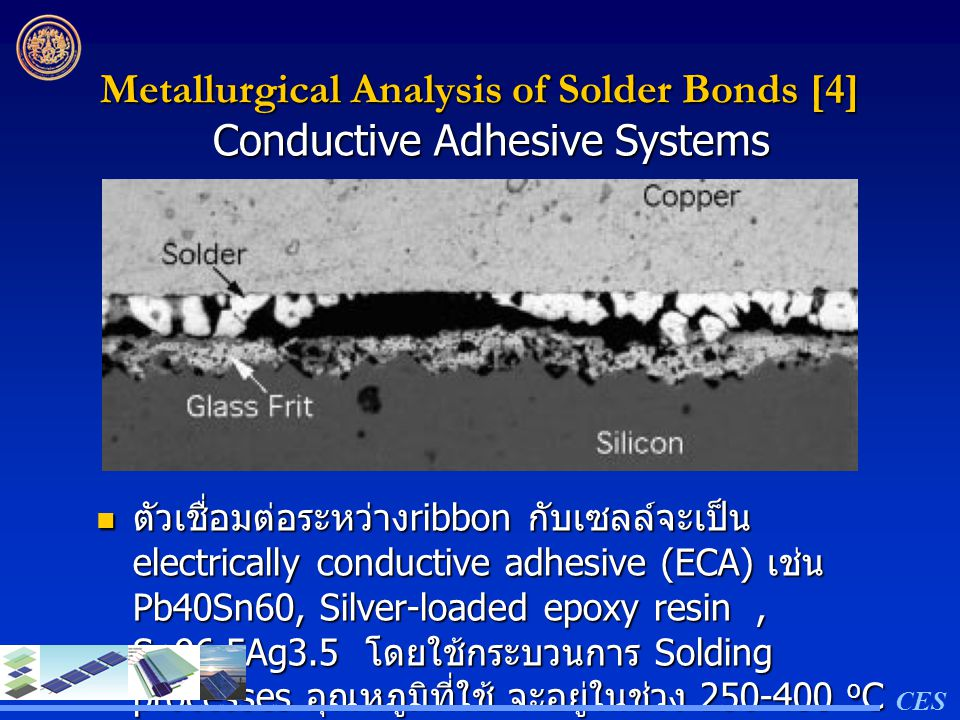 Metallurgical Analysis of Solder Bonds [4]