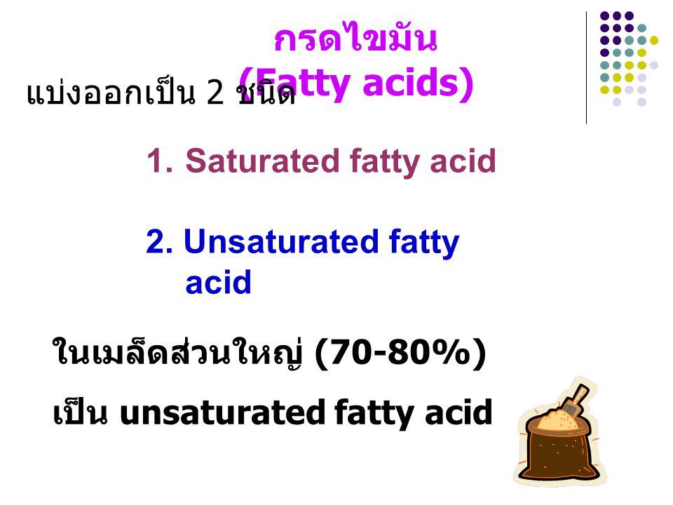 กรดไขมัน (Fatty acids)