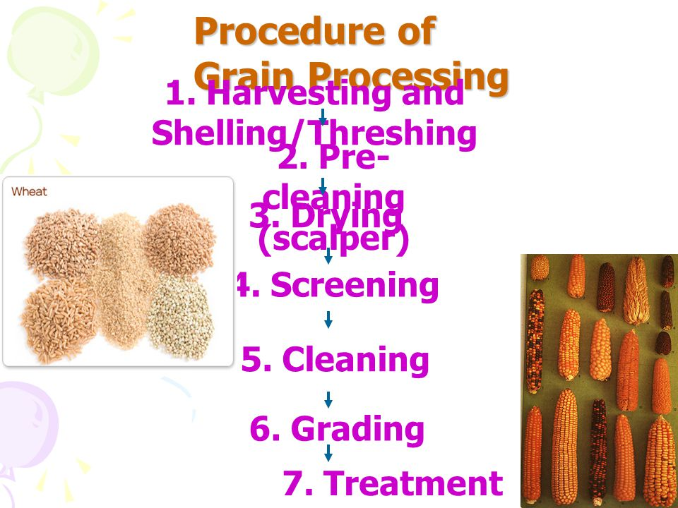 1. Harvesting and Shelling/Threshing 2. Pre-cleaning (scalper)