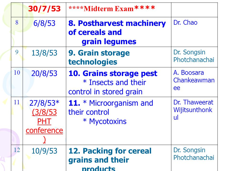 8. Postharvest machinery of cereals and grain legumes 13/8/53
