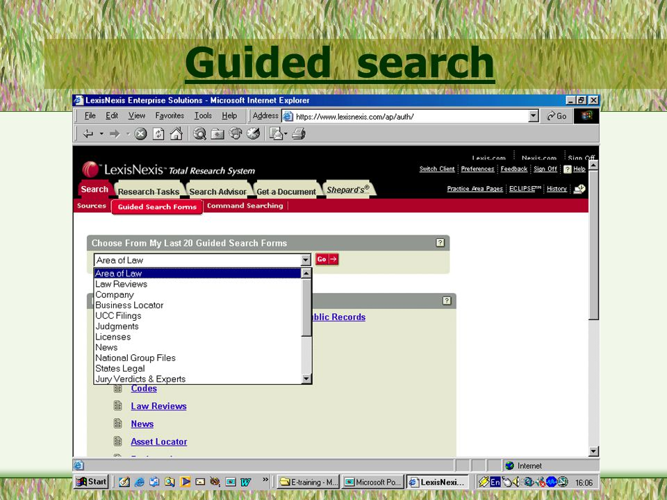 Guided search forms