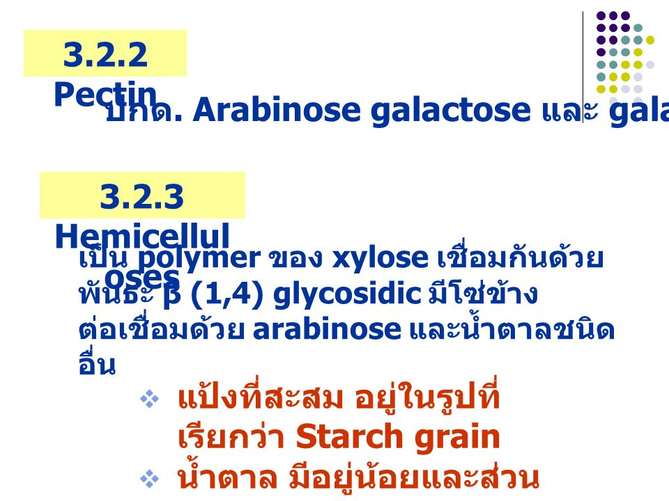 3.2.2 Pectin 3.2.3 Hemicelluloses