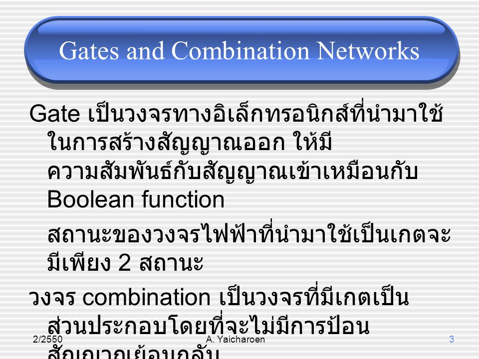 Gates and Combination Networks