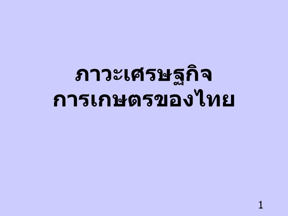 ภาวะเศรษฐกิจการเกษตรของไทย
