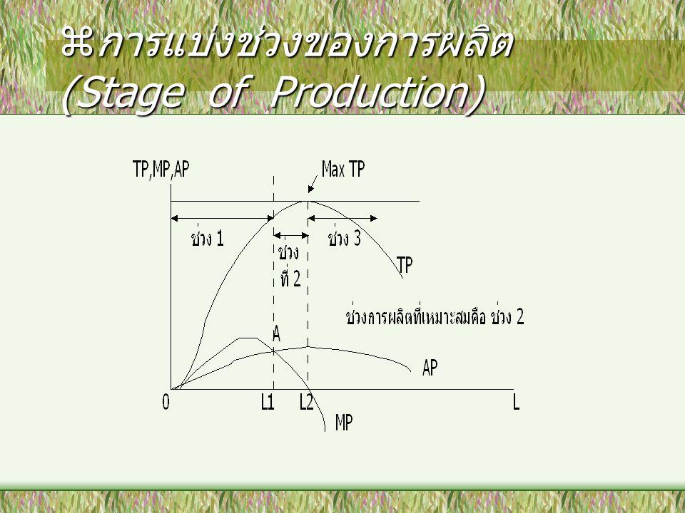 การแบ่งช่วงของการผลิต (Stage of Production)