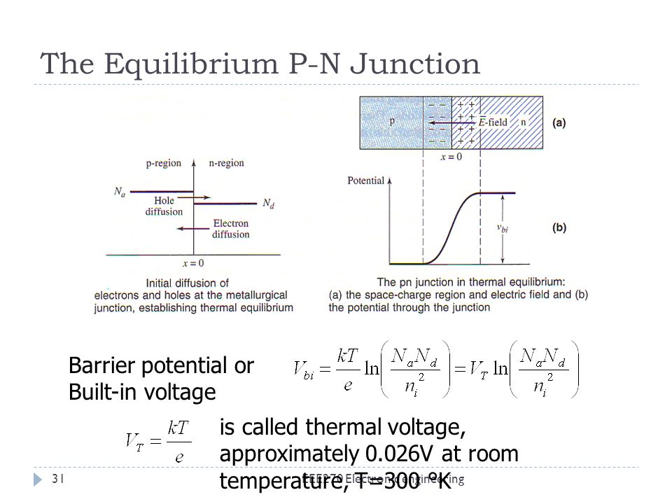 The Equilibrium P-N Junction