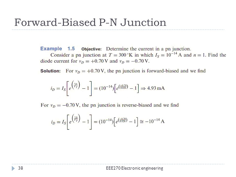 Forward-Biased P-N Junction