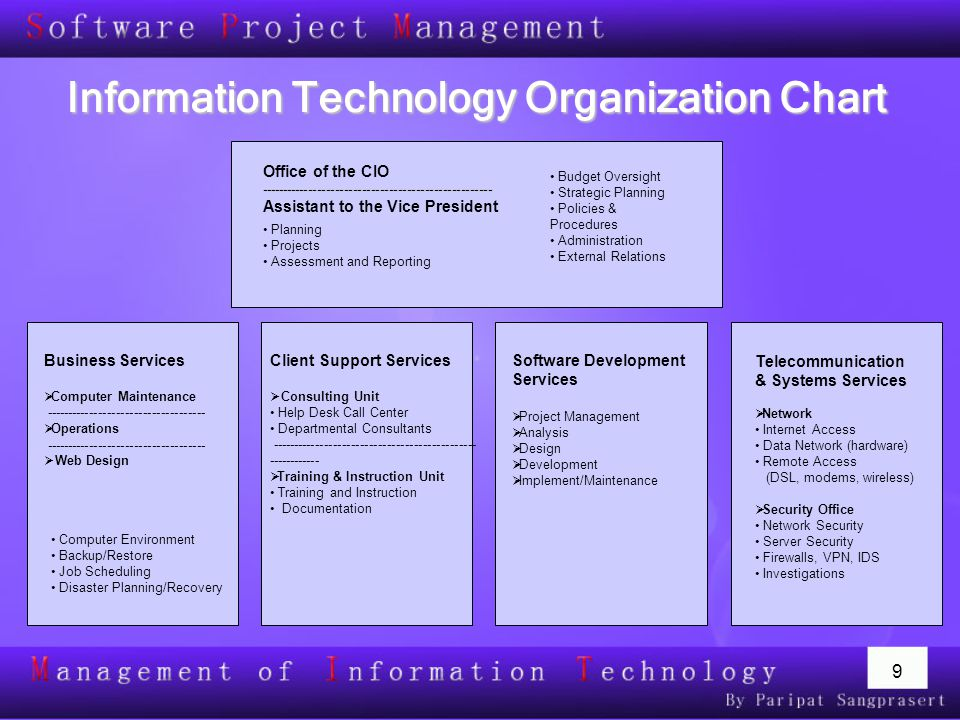 Information Technology Organization Chart
