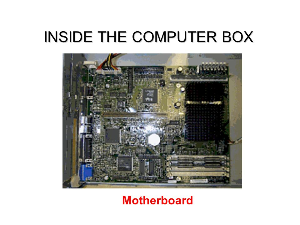 INSIDE THE COMPUTER BOX
