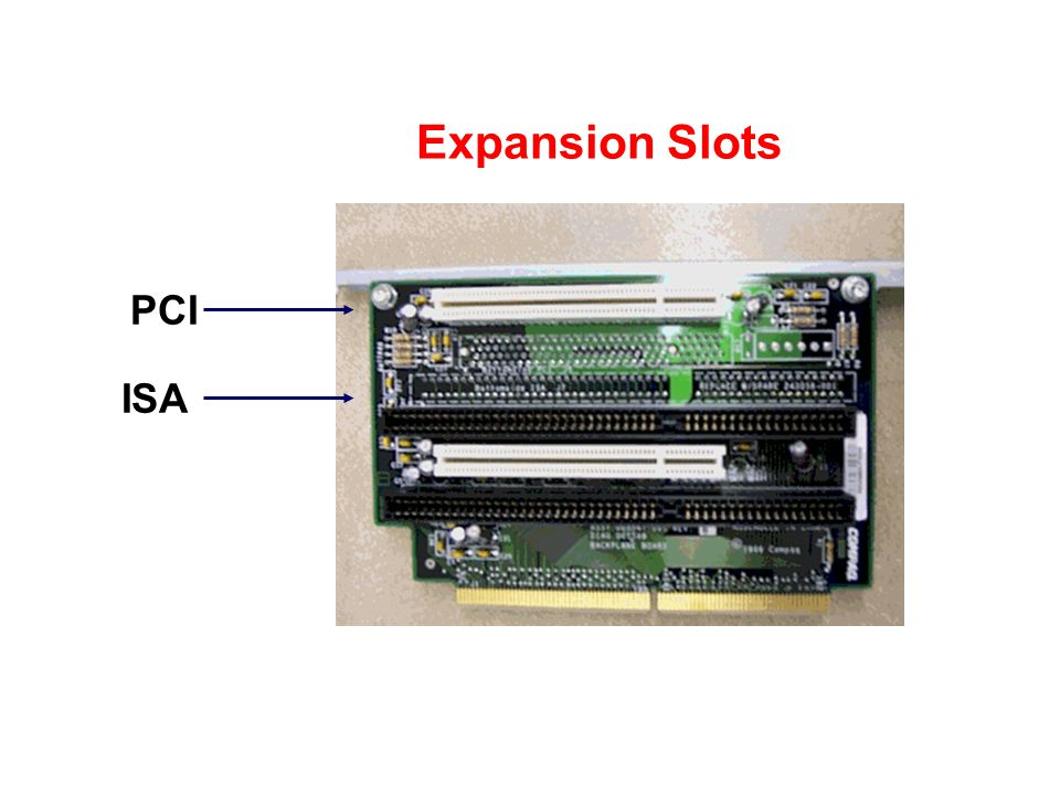 Expansion Slots PCI ISA