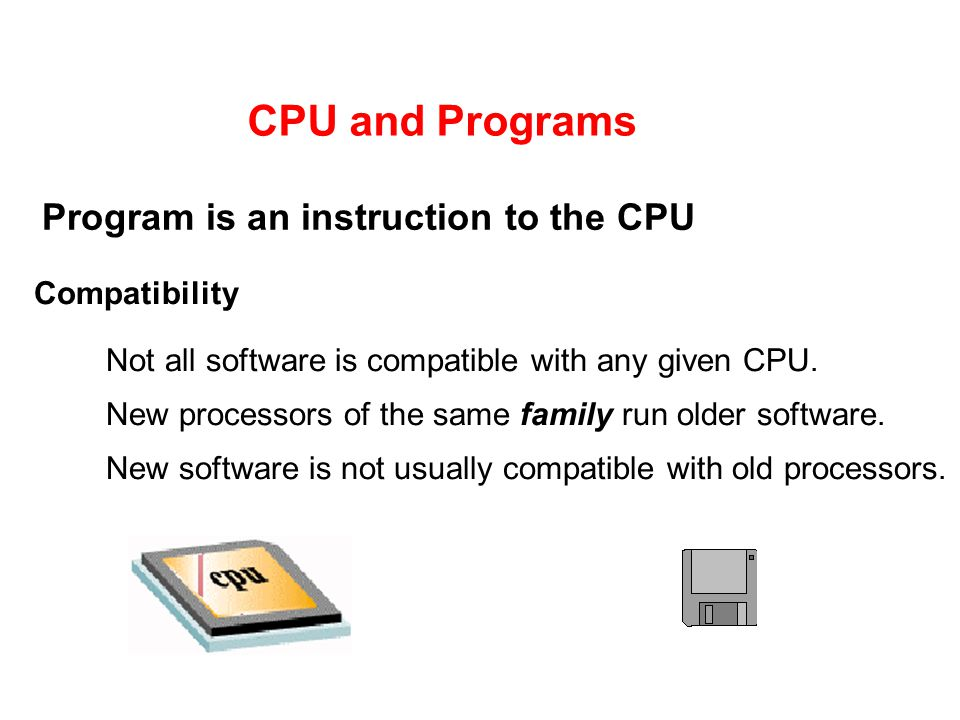 Program is an instruction to the CPU