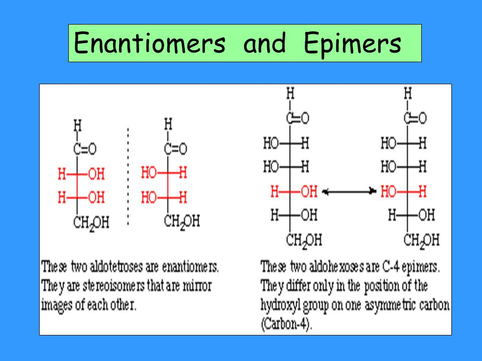 Enantiomers and Epimers