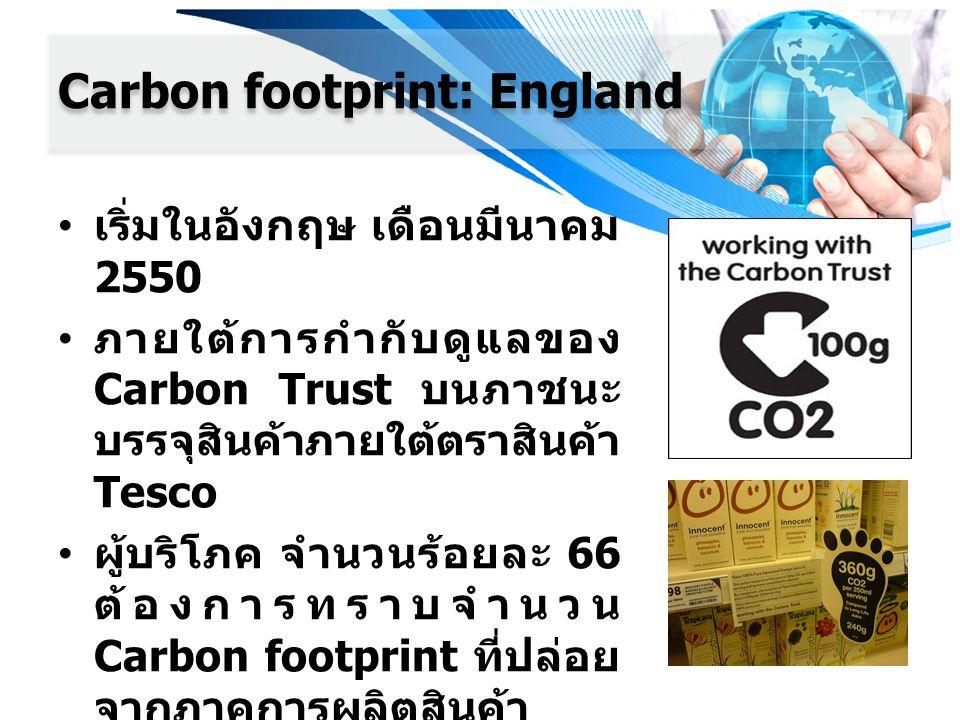 Carbon footprint: England