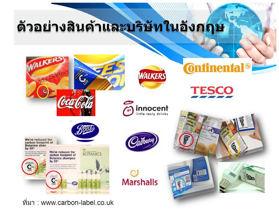 ตัวอย่างสินค้าและบริษัทในอังกฤษ