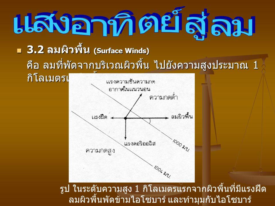 แสงอาทิตย์สู่ลม 3.2 ลมผิวพื้น (Surface Winds)