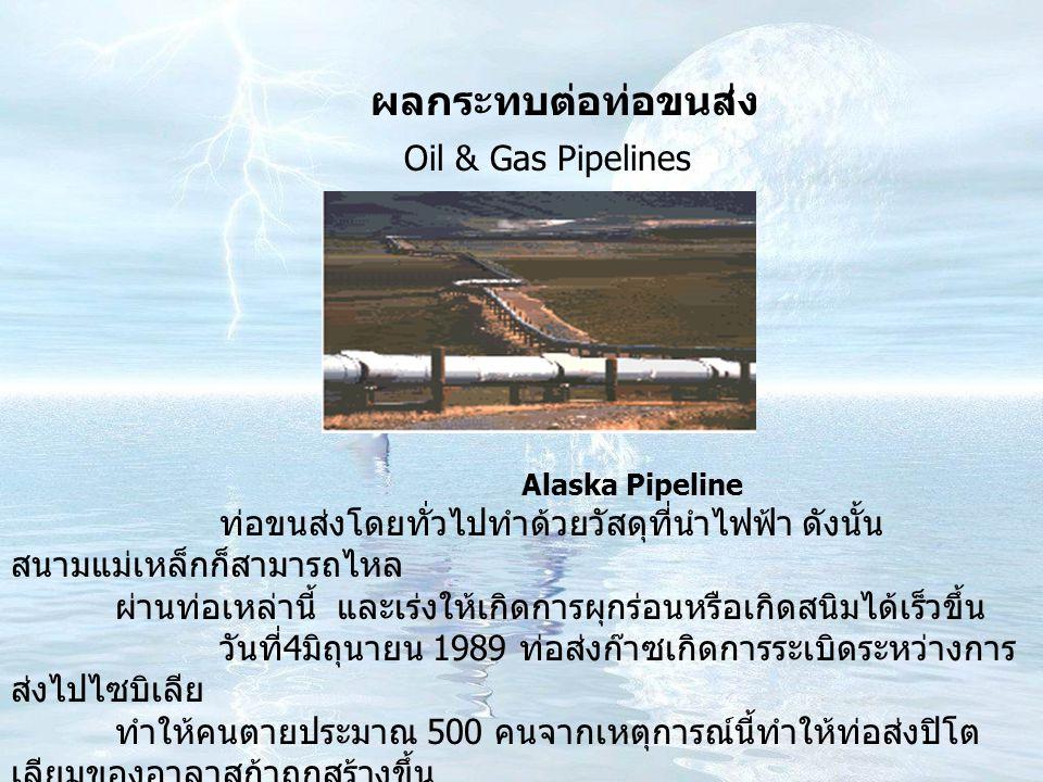 ผลกระทบต่อท่อขนส่ง Oil & Gas Pipelines