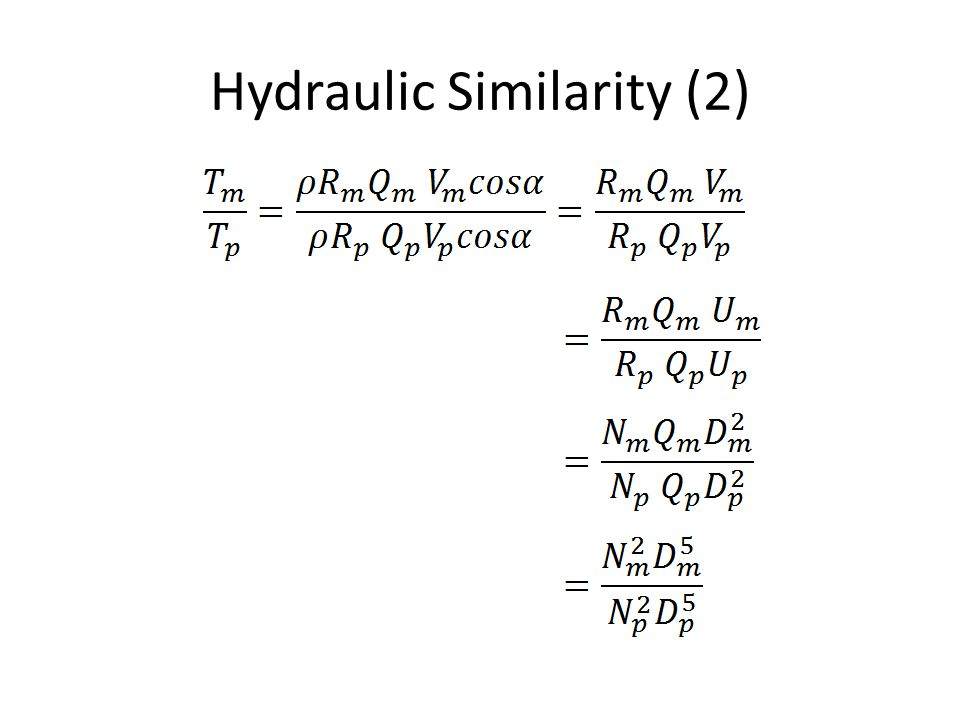 Hydraulic Similarity (2)