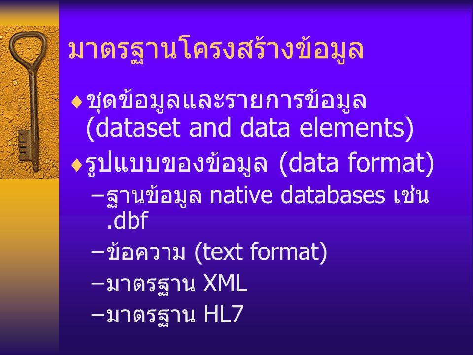 มาตรฐานโครงสร้างข้อมูล