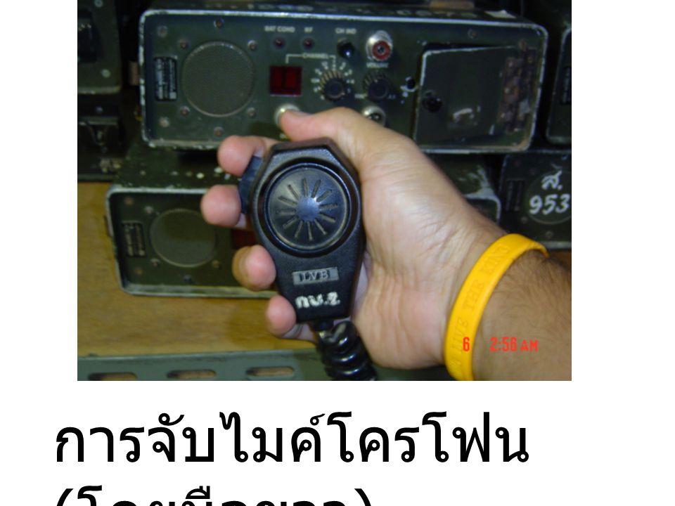 การจับไมค์โครโฟน(โดยมือขวา)