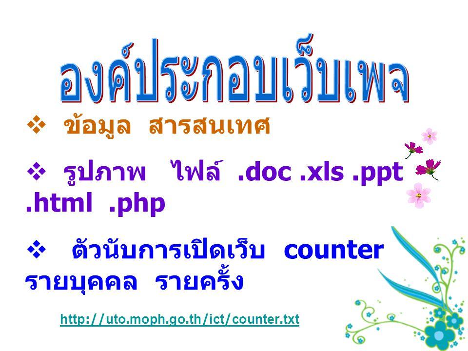 รูปภาพ ไฟล์ .doc .xls .ppt .html .php